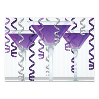 Purple cocktail and ribbon card