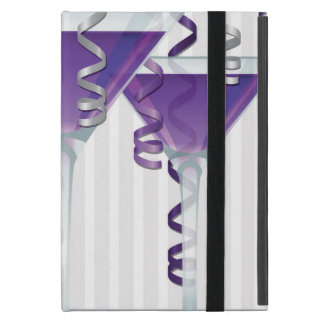 Purple cocktail and ribbon iPad mini covers