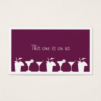 Purple cocktail corporate event drink ticket
