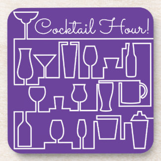 Purple cocktail party coaster