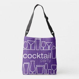 Purple cocktail party crossbody bag