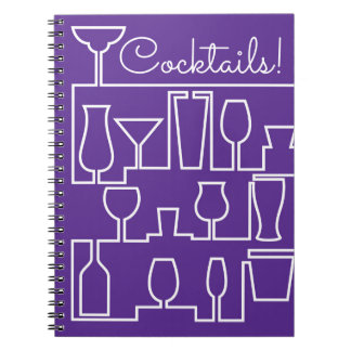 Purple cocktail party notebook