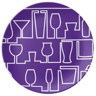 Purple cocktail party plate