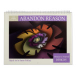 Purple Collection Abstract Fractal Wall Calendars