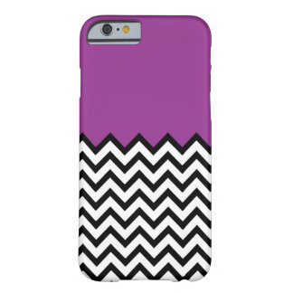 Purple Color Block Chevron Pattern iPhone 6 case Barely There iPhone 6 Case