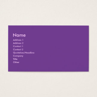 Purple color business card