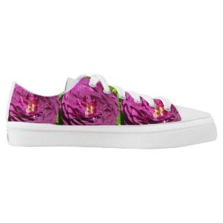 Purple Color Rose Low-Top Sneakers