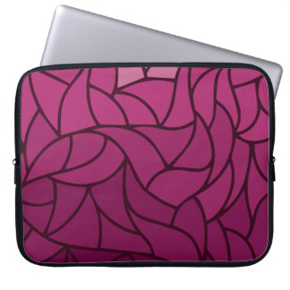 Purple Color Shades Pattern Laptop Sleeve