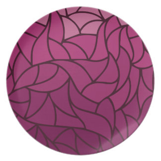 Purple Color Shades Pattern Plate
