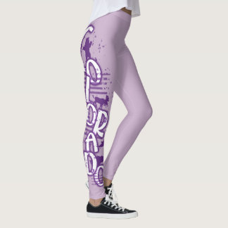 Purple Colorado wild animal word leggings