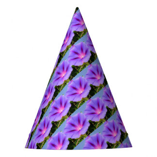 Purple Colored Morning Glory Flower Party Hat