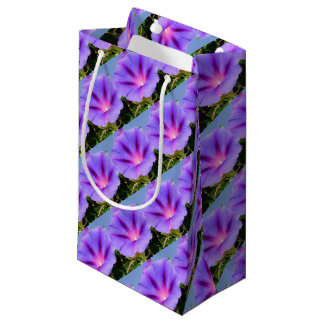 Purple Colored Morning Glory Flower Small Gift Bag