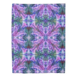 Purple Colored Vapors Duvet Cover