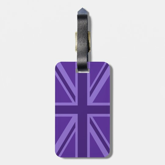 Purple Colour Union Jack Flag Design Luggage Tag