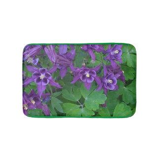 Purple Columbines - Bath Mat