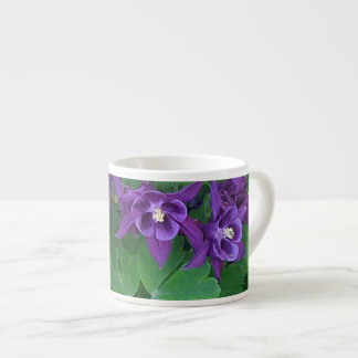 Purple Columbines - Espresso Mug