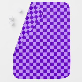 Purple Combination Checkerboard by Shirley Taylor Baby Blanket