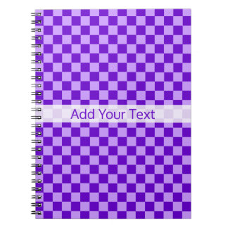 Purple Combination Checkerboard by Shirley Taylor Notebook