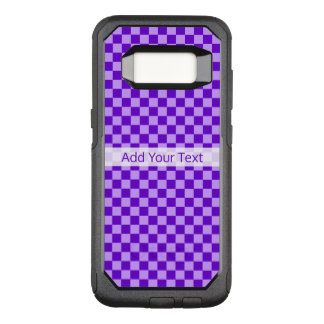 Purple Combination Checkerboard by ShirleyTaylor OtterBox Commuter Samsung Galaxy S8 Case