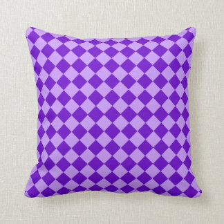 Purple Combination Diamond Pattern by STaylor Throw Pillow