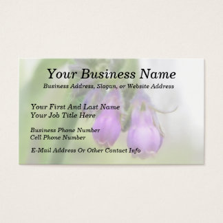 Purple Comfrey Flowers Business Card