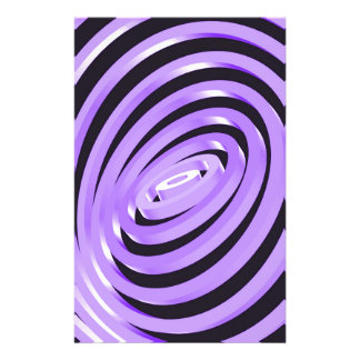 Purple Concentric Rings Personalized Stationery