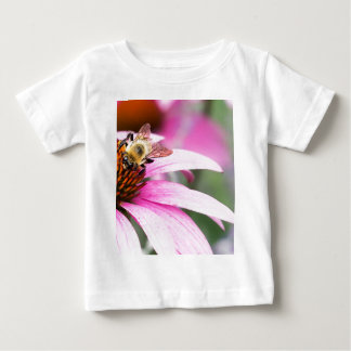 Purple Cone Flower with Bee Baby T-Shirt