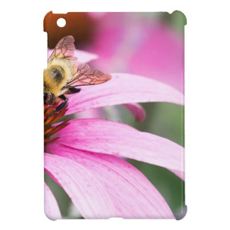 Purple Cone Flower with Bee iPad Mini Cover