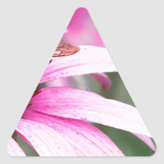 Purple Cone Flower with Bee Triangle Sticker