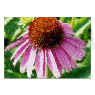 purple coneflower artwork card