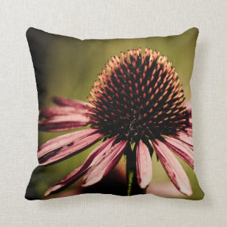 Purple Coneflower Dramatic Wildflower Throw Pillow