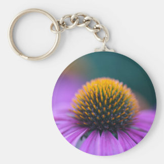 Purple coneflower (Echinacea purpurea) Basic Round Button Keychain