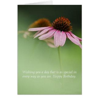 Purple Coneflower, Floral Birthday Wildflower Card