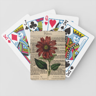 Purple Coneflower Flower Bicycle Playing Cards