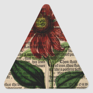 Purple Coneflower Flower Triangle Sticker