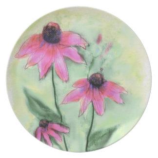 Purple Coneflower Plate