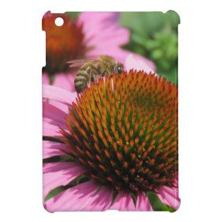 Purple Coneflower with Bee iPad Mini Case