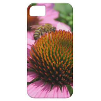 Purple Coneflower with Bee iPhone 5 Covers