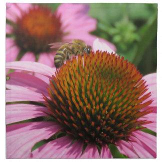 Purple Coneflower with Bee Napkins