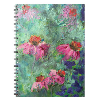 Purple Coneflowers Echinacea Floral Notebook