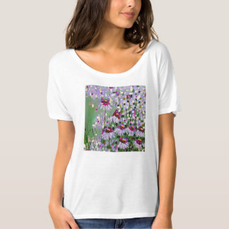 Purple coneflowers tee shirt