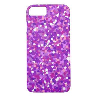 Purple confetti glitter pattern iPhone 7 case