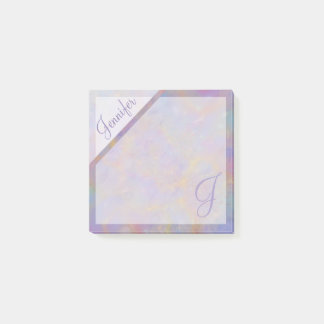 Purple Confetti Textured Monogram Post-it Notes