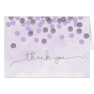 Purple Confetti Thank You Card