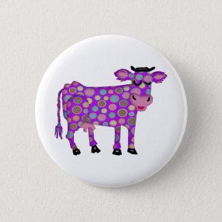 Purple Cow 2 Inch Round Button