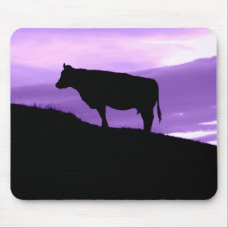 Purple Cow Mouse Pad