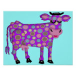 Purple Cow Poster