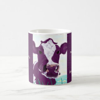 Purple Cow Quite Possibly Contemplating Flight mug
