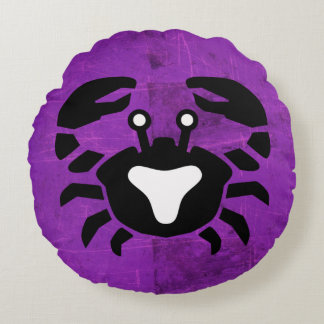 Purple Crab Cancer Horoscope Sign Pillow