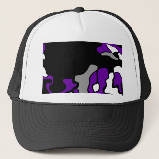 Purple creativity trucker hat